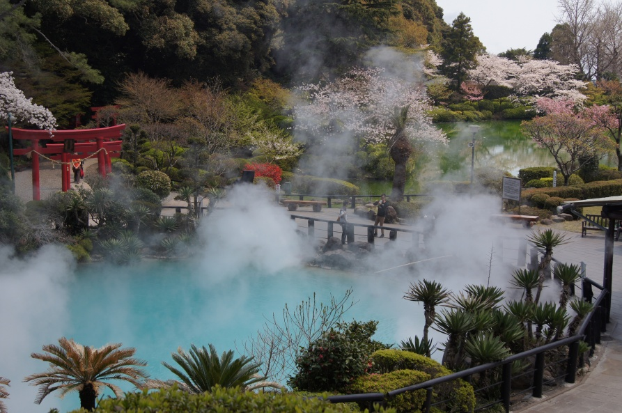 Treating animal diseases at hot springs in Japan