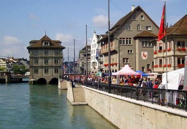 Limmatquai and Rathaus (شهربازی) زوریخ